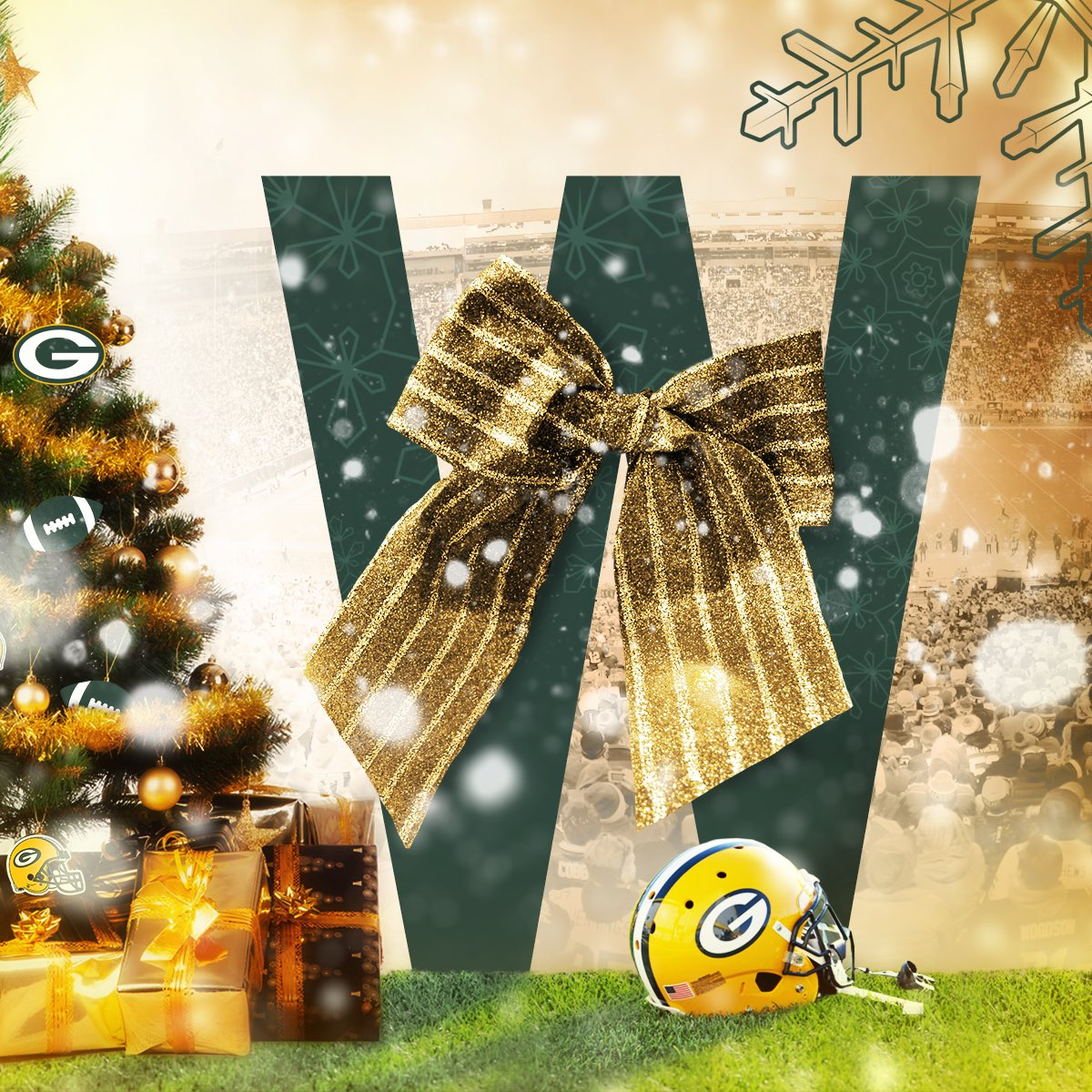 Christmas Morning is that much better when you get a big W! ���� #GoPackGo https://t.co/f52tgeA3GO