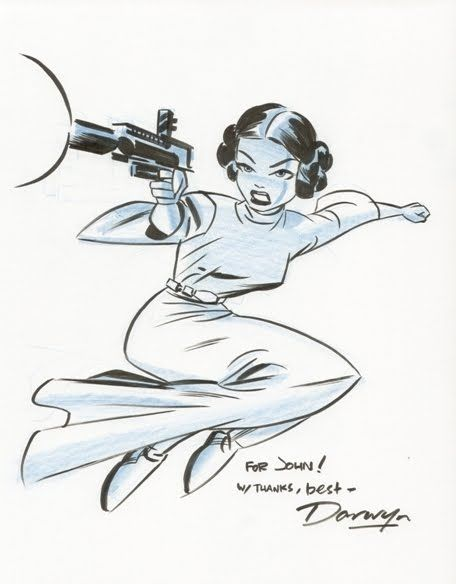 Darwyn Cooke (1962 - 2016) draws Carrie Fisher (1956 - 2016) as Princess Leia. https://t.co/ONL886turH