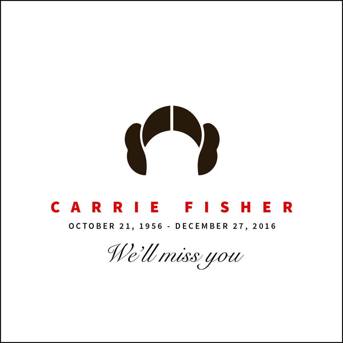 Thank you for everything Carrie. We'll never forget your legendary work. https://t.co/jgrgJqIFba