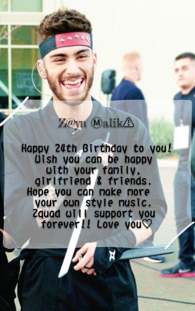 Happy 24th Birthday to the lovely Zayn Malik!! 12-01-1993