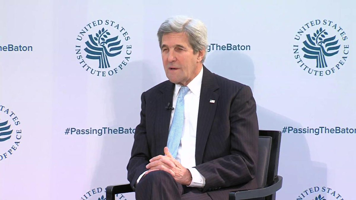 Secretary @JohnKerry speaks at @USIP about outcomes of U.S. global engagement #PassingTheBaton