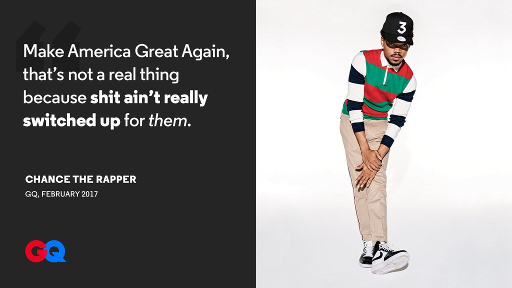 Chance the Rapper talks politics in the age of Trump https://t.co/NlDqhixffj https://t.co/30VLOEvudp