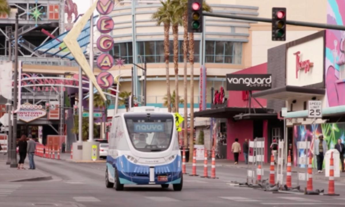 Las Vegas launches the first electric autonomous shuttle on U.S. public roads https://t.co/d0Jv8FakXz https://t.co/Thd51wZcRY
