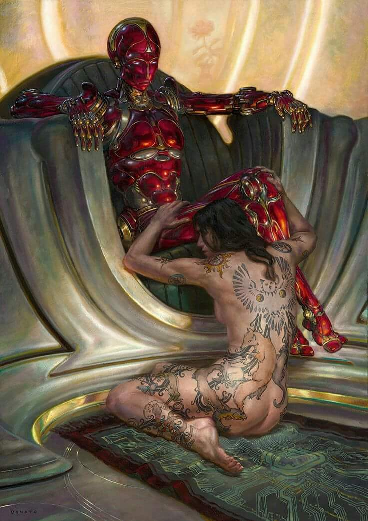Art by DONATO GIANCOLA #illustration #erotic #scifi #DonatoGiancola https://t.co/QnB7YxfleS