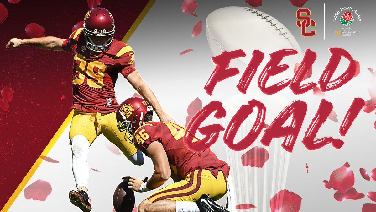USC 52, PSU 49!  TROJANS WIN ON A @MattBoermeester FIELD GOAL!!!!  #FightOn #BeatTheLions #RoseBowl