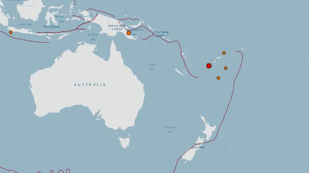 Tsunami alert issued after magnitude-7.2 earthquake near Fiji