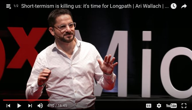 """""""Short-termism is killing us: It's time to think Longpath."""" My TED talk just posted! https://t.co/e1nvHEtAGk https://t.co/wWQ8yE70EO"""