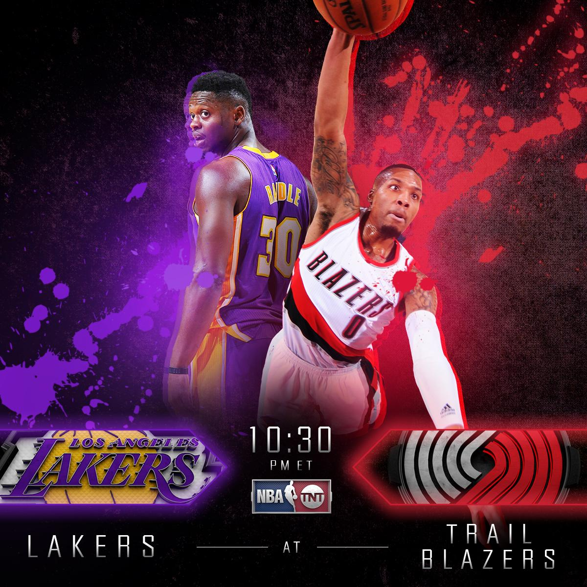 .@Dame_Lillard and the @trailblazers host @J30_RANDLE and the @Lakers NEXT on TNT! https://t.co/HvzJaiu68O