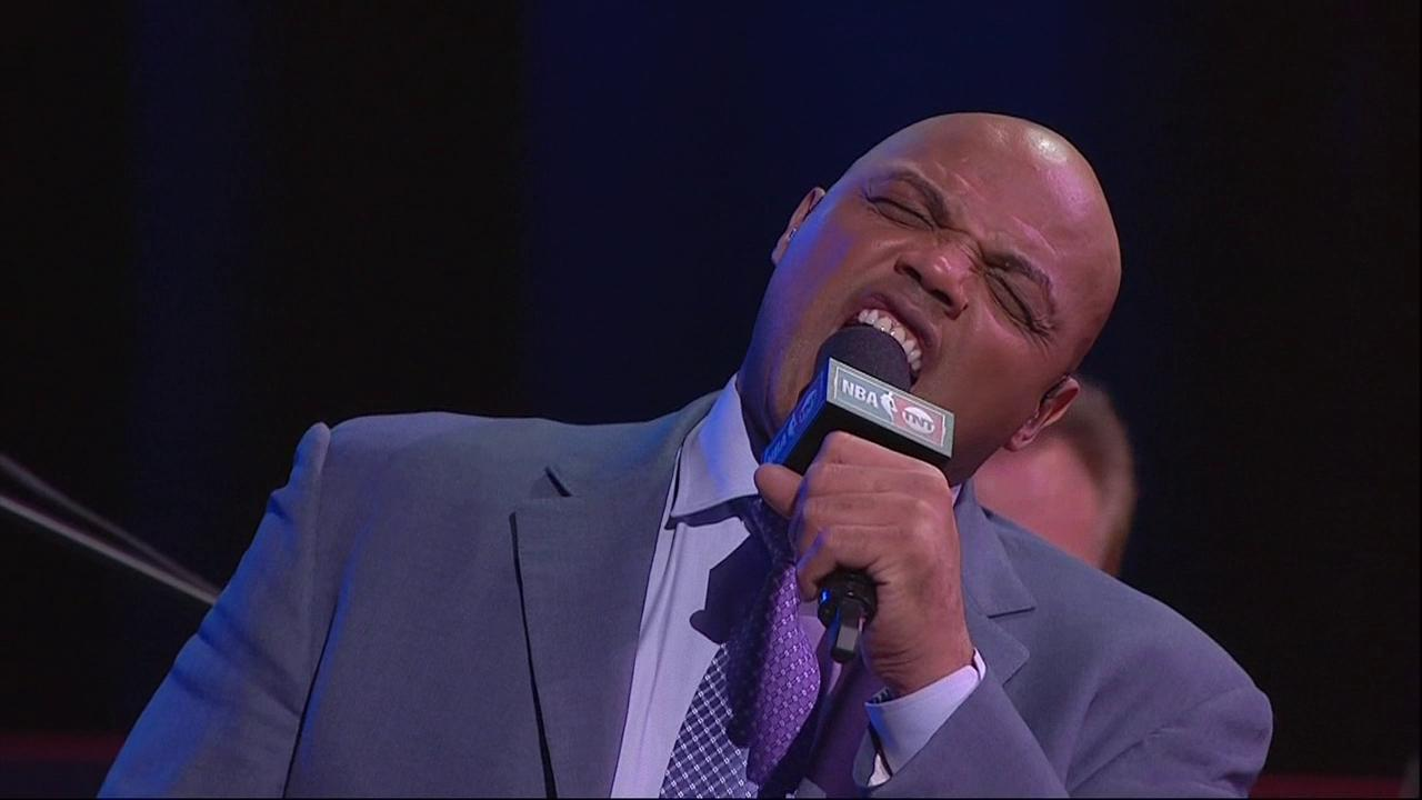 The #InsidetheNBA crew's trip to Vegas isn't complete without a solo performance from Chuck �� https://t.co/0MZnrYuKM5