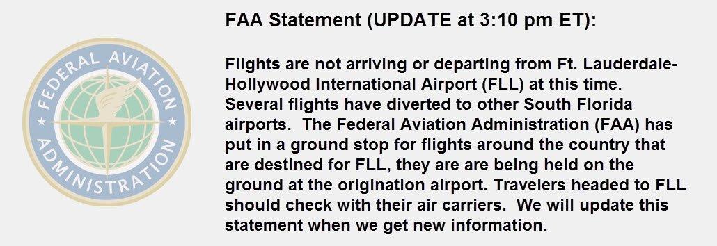 ✈️ TRAFFIC ALERT: Updated FAA statement on @FLLFlyer status: https://t.co/FnpfqNb4NK