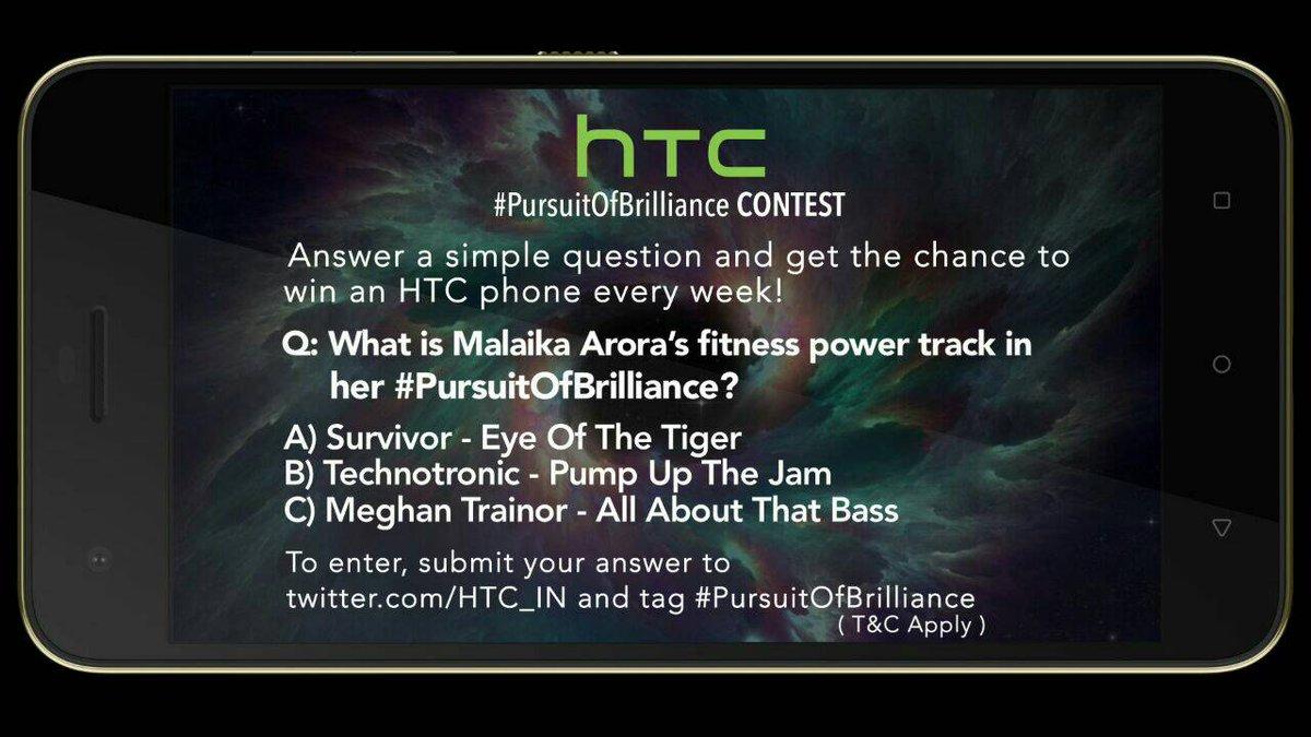 HTC #PursuitOfBrilliance contest is live now @MissMalini @Vh1India #Vh1InsideAccess #HTCDesire10Pro https://t.co/ROYjmtVwvZ