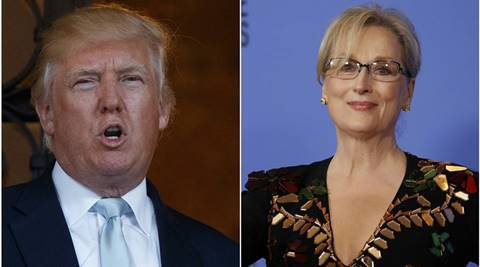Donald Trump dismisses Meryl Streep's criticism at Golden Globe awards, says she is 'a Hillarylover'