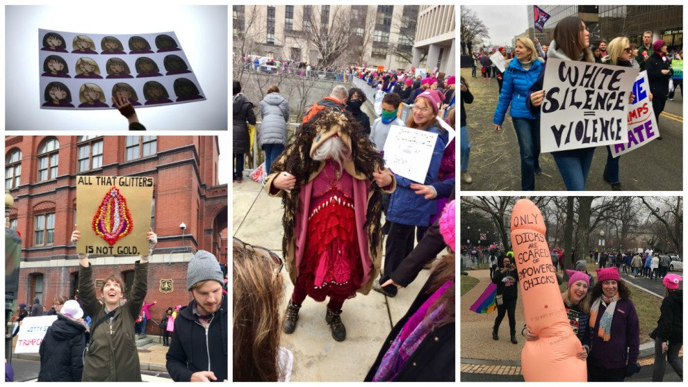 The three very symbolic things people carried to the #WomensMarch https://t.co/s4GI5UjlsT