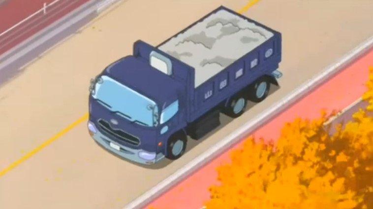 【作品】みなみけ【人物】山田建設【車種】UDトラックス・クオン【年式】2004年~