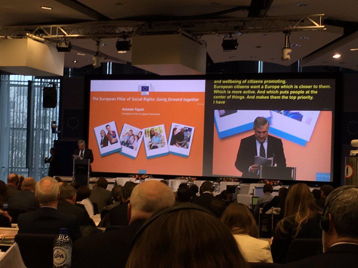 Antonio Tajani first major speech at EPSR Conf.: