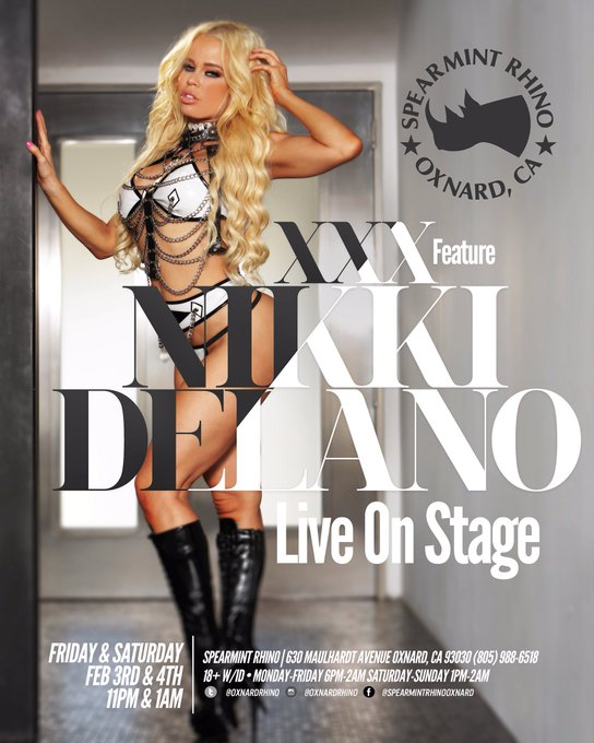 3 pic. Feb 3 & 4th I will be live featuring at the amazing @OxnardRhino @rhinoclubs 💃💃💃 https://t.co