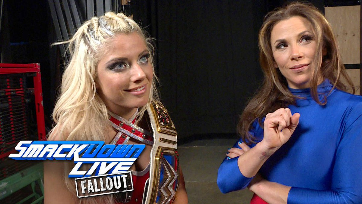 EXCLUSIVE If you thought @AlexaBliss_WWE and @MickieJames had remorse for their actions on #SDLive... THINK AGAIN!