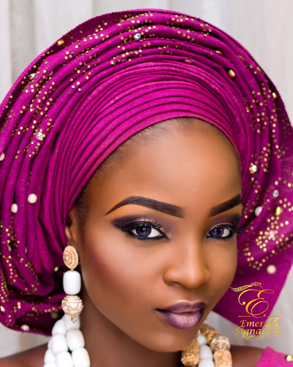 Makeup and gele by me... pls RT my clients can be on your TL