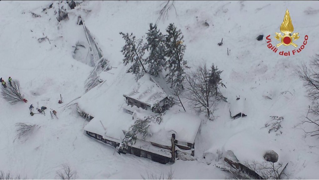'Many dead' or missing after earthquake-triggered avalanche buries hotel, officials say. @KellyCobiella reports now from Italy.