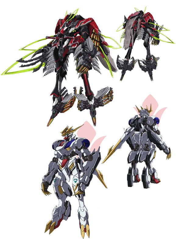 悪魔のロボット・バルバトスルクスレクスとヴァルヴレイヴIフルインパクト。正反対からのアプローチでこの収斂度。
