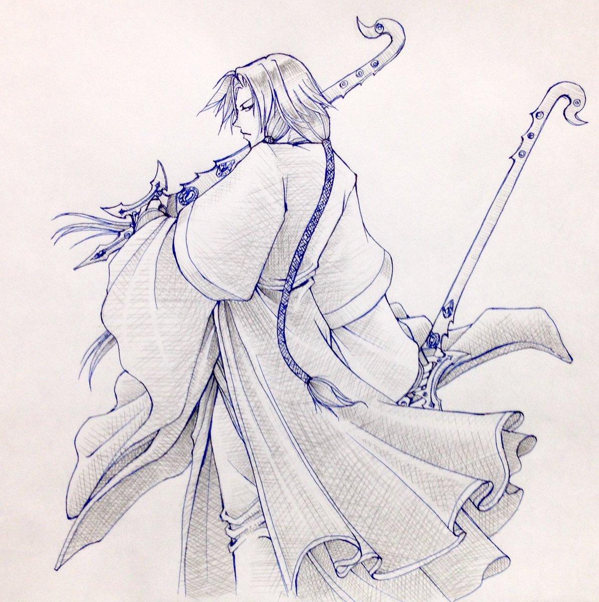 凋命さんの武器、双剣だから数的にぴったりだね。(・∀・)凋命さんのイラストデザインは、後ろ髪がライオンのしっぽみたいで可