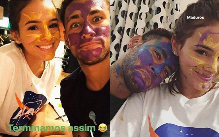 Neymar e Bruna Marquezine aparecem sujos de tinta e brincam: 'Maduros'  -> https://t.co/cC4enM0lSn