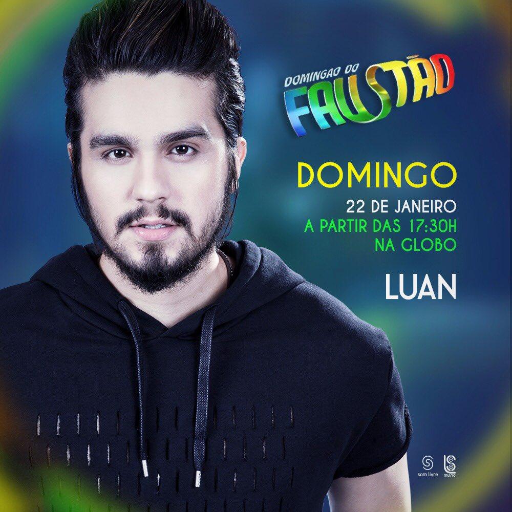 Hoje!! A partir das 17h30, na @RedeGlobo @gshow. #LuanSantanaNoFaustao