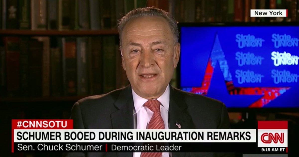 .@SenSchumer Hits @POTUS Inauguration Crowd for Booing Him: 'Speaks Poorly of Them' https://t.co/WjQFo8Q6pA