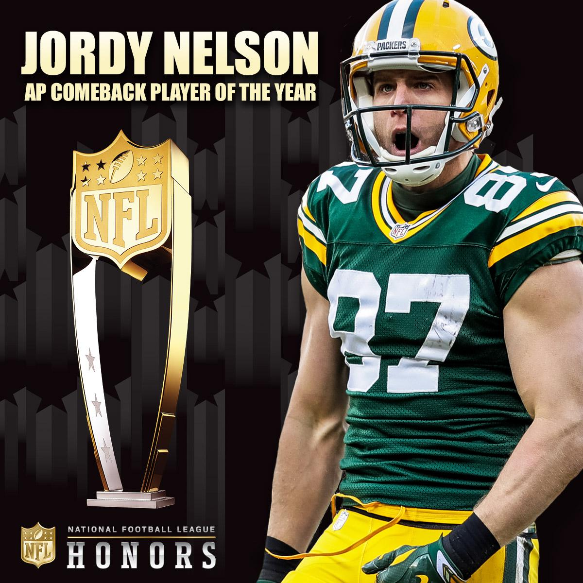 Congrats, @JordyRNelson!   AP Comeback Player of the Year ��: https://t.co/K7riEXFn8U  #NFLHonors #GoPackGo https://t.co/CN1Zmk0o6k