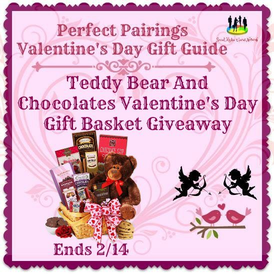 Perfect Pairings Valentine's Day Gift Guide Teddy Bear And Chocolates Valentine's Day Gift Basket Giveaway!
