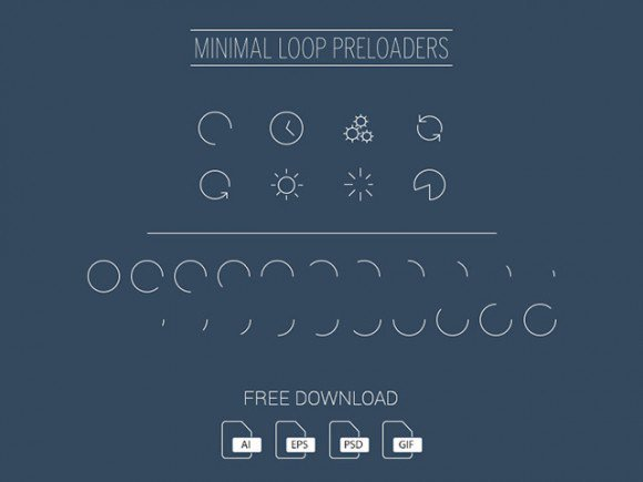 Minimal loop preloaders ai free freebie freebies loader loading