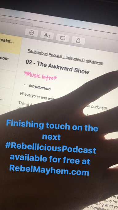 😎🤘 ...#InstagramStories #RebelliciousPodcast - @RebelMayhem https://t.co/bwjSaAt4Ql