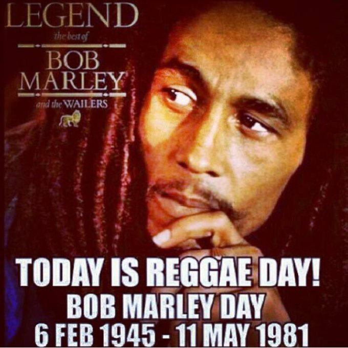 Happy Birthday Legend Bob Marley  Coincidence My Sister shares his Birthday I think Not lol