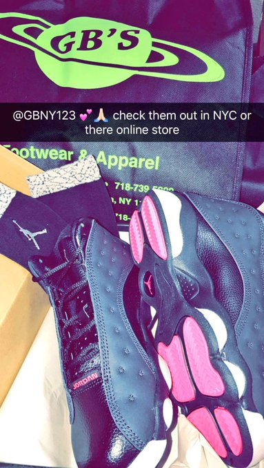 1 pic. Thanks to @gbny123 for sending me these brand new Jordan Retro 13's black/white and pink 💕🙏🏻 https://t