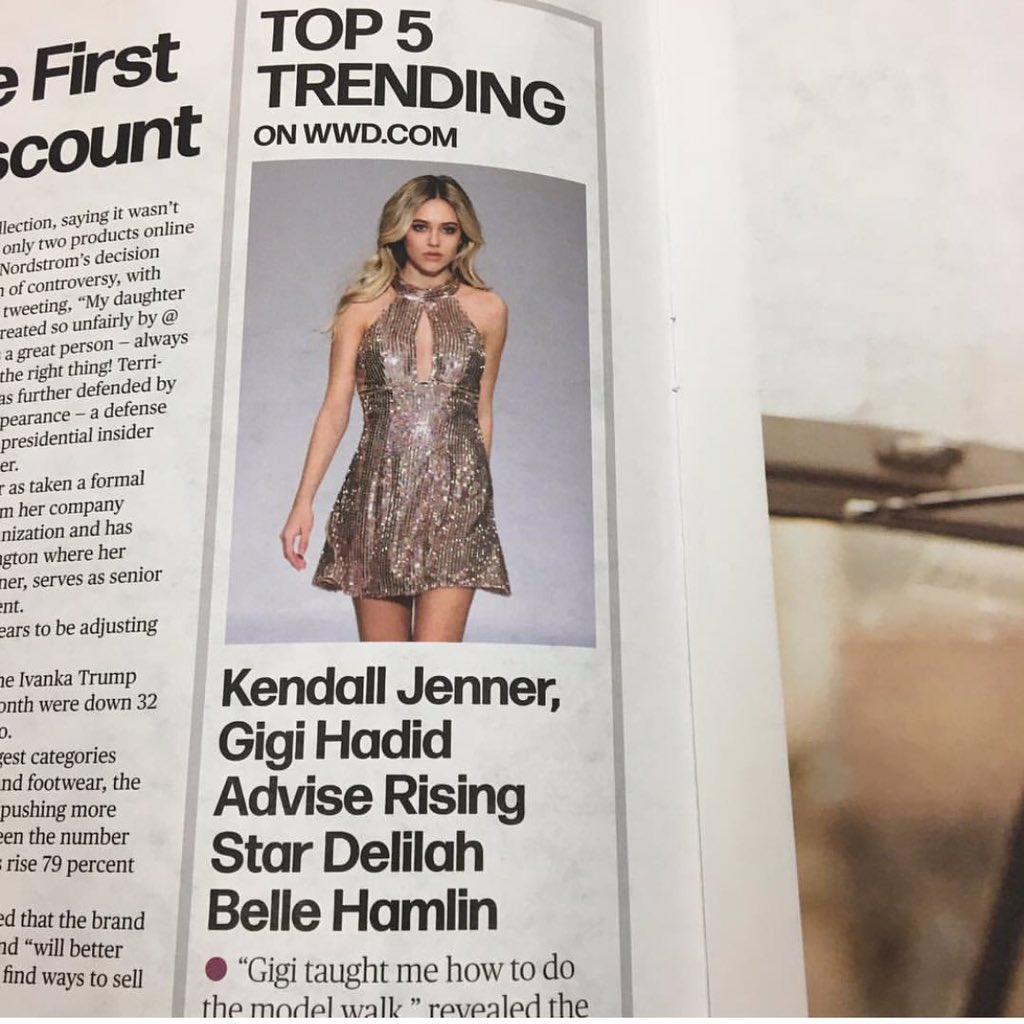 So proud of our girl!!! ???? @DelilahBellee #wwd #nyfw2017 https://t.co/o4BZOcE7MS