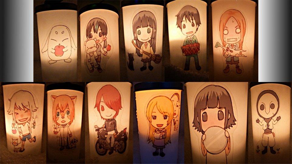 無事杏子ちゃん補完できた!今日はちゃんと灯っててよかったー!#弘前雪灯籠祭#ふらいんぐうぃっち