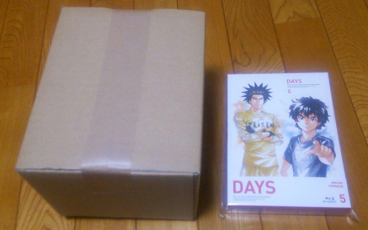 発売日は明日ですが…入荷のお知らせが来たので、DAYS5巻をお迎えして来ました(*´ー`*)今回も梱包の箱の大きさが不安