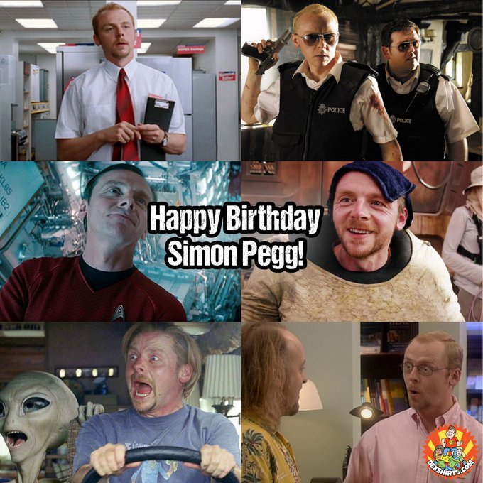 Happy Birthday to Simon Pegg who turns 47 today! He managed to appear in both AND