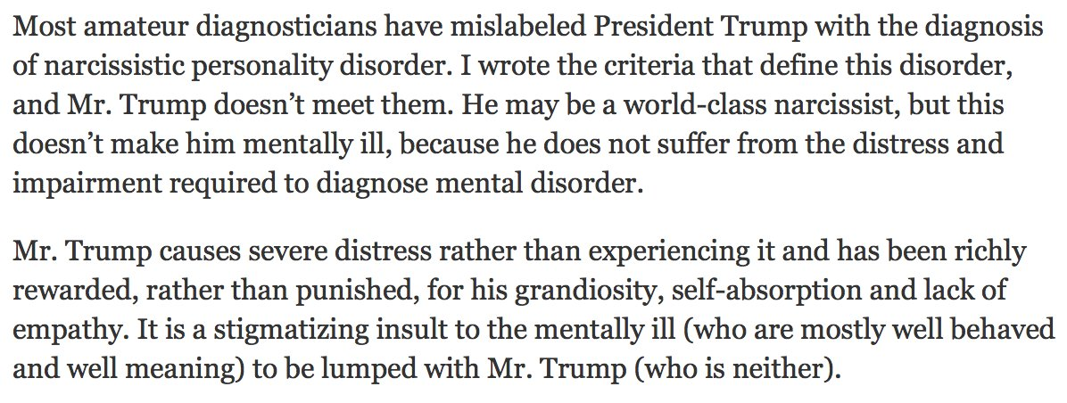 A Leading Psychiatrist Wrote A Letter To The Saying President Trump