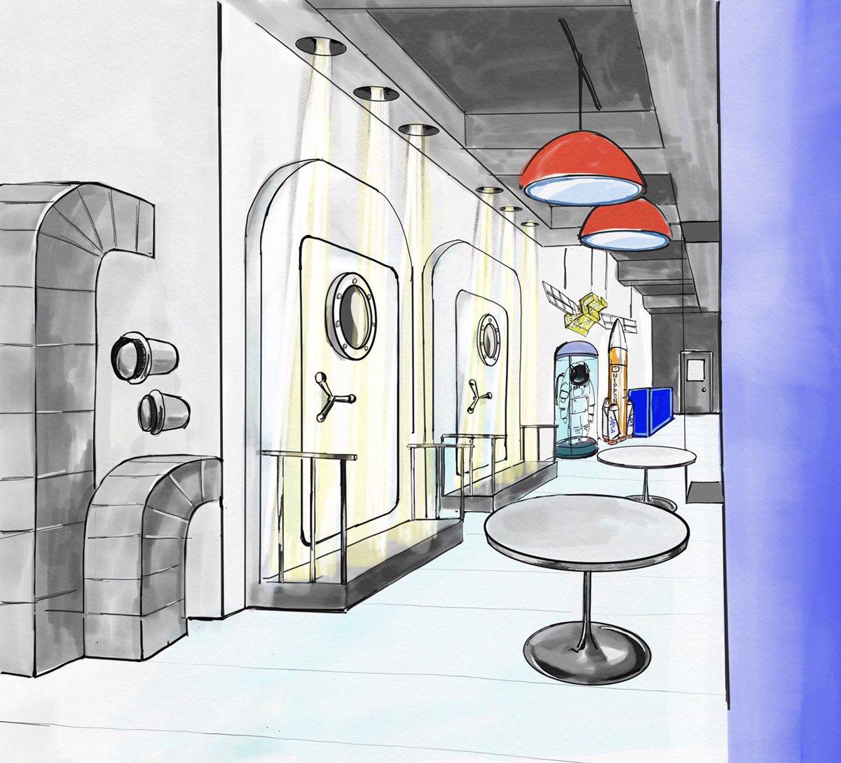 【噂の新店舗OPEN】宇宙兄弟とコラボした『宇宙飛行士選抜試験』のために新店舗OPEN決定!完成理想図をこっそり公開!店
