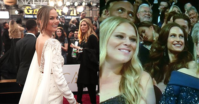 People are so confused by what Chrissy Teigen did in the Oscars audience...