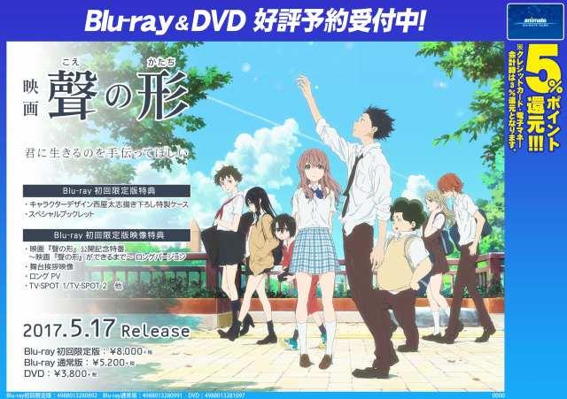 【BD&DVD予約情報】 映画『聲の形』BD&DVDの発売が5月17日なんやお!ご予約受付中♪BD初回限