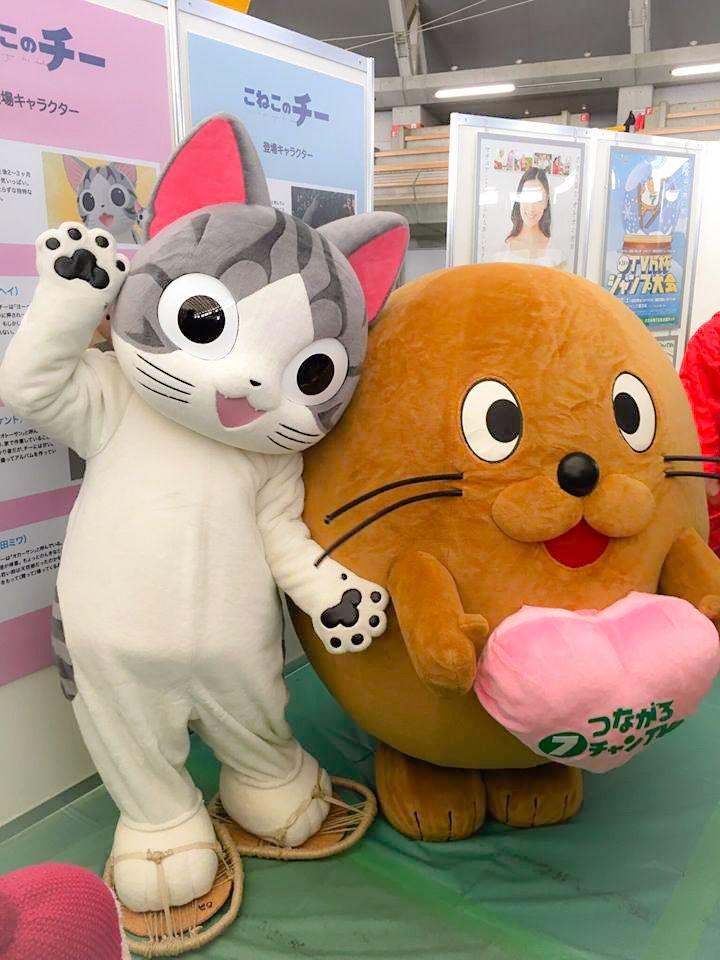 みゃー! テレビ北海道のらっぴぃとハイ、チーズ! らっぴぃといっしょに みんなにアイサツしたんら たのちかったー♪ #こ