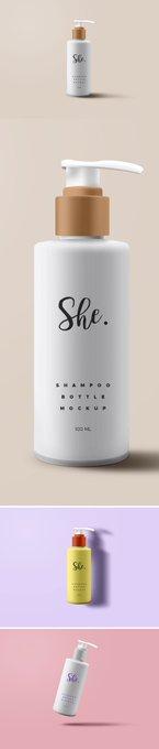 Shampoo Bottle Packaging PSD Mockup free freebie freebies mockup shampoo