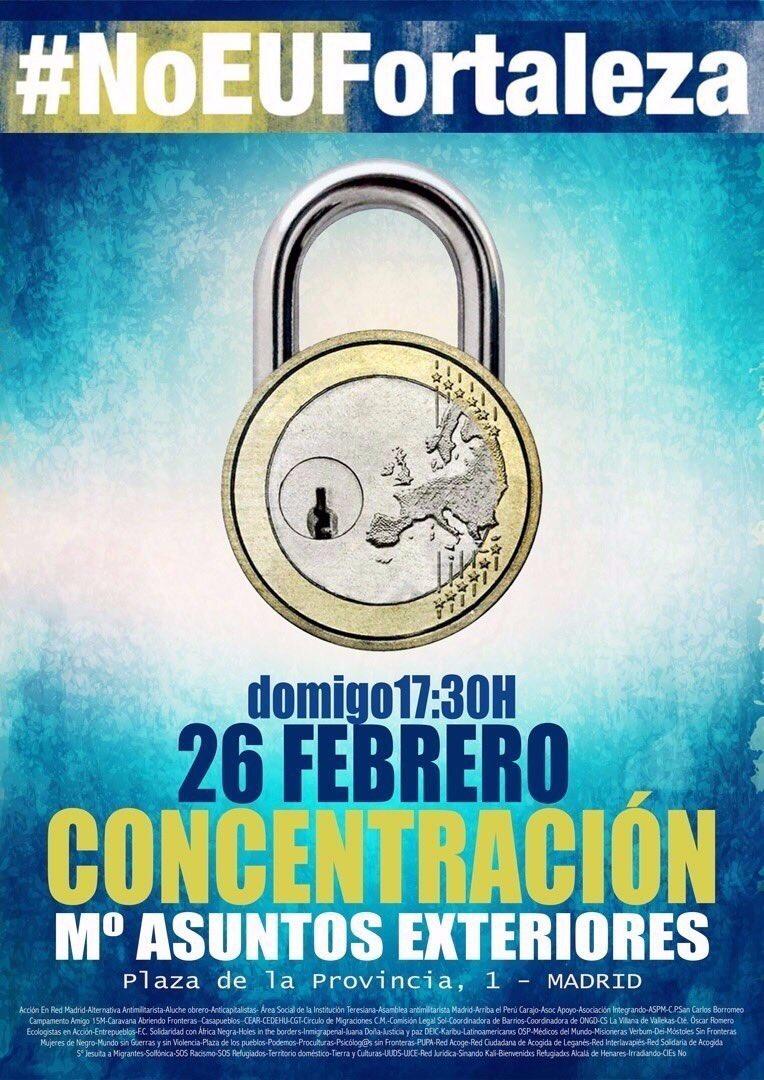 El domingo a la calle por los #DerechosHumanos vías seguras y el derecho a #Asilo #noEUfortaleza https://t.co/ITOhCutaIt