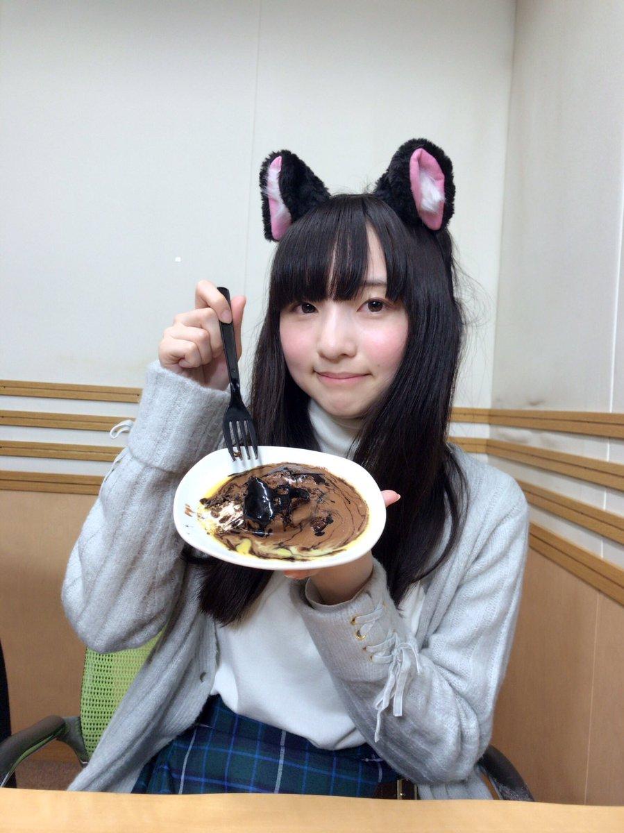 【放送後記】 今日はにゃんにゃんにゃんの日だにゃーん。だから猫耳なんだにゃーん!!!チョコケーキ、あっためちゃダメ!ゼッタイ!!笑 (田中美海) #ag_5stars