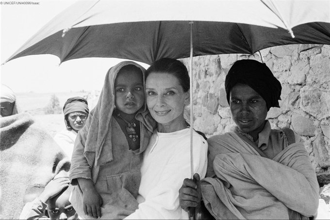 'The best thing to hold on to is each other.' Audrey Hepburn, #UNICEF Goodwill Ambassador ❤️️.   #foreverychild, love.