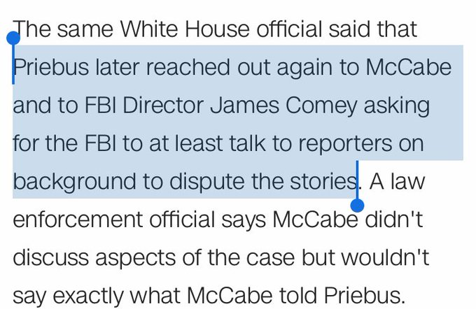 .@Reince, last wknd: Reporters shouldn't use anonymous sources  Also : Asks the FBI to be anonymous sources  https://t.co/aebc792kGz