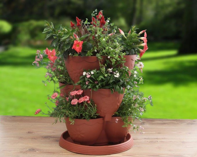 Triple Height Planter