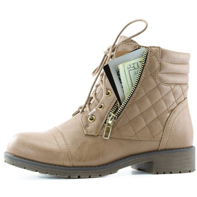 #fashion #free #shoes #style #win #giveaway #shopping DailyShoes Women's Military Up Buckle Combat Boots Ankle High Exclusive Credi... #rt